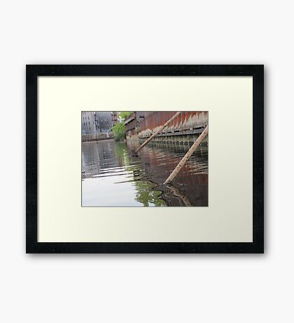 Rusted Industry and Nature Framed Print
