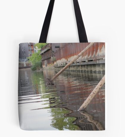 Rusted Industry and Nature Tote Bag