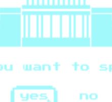GAME OVER - 8-bit Spending Game Sticker