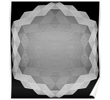 Hex scintillation optical illusion Poster
