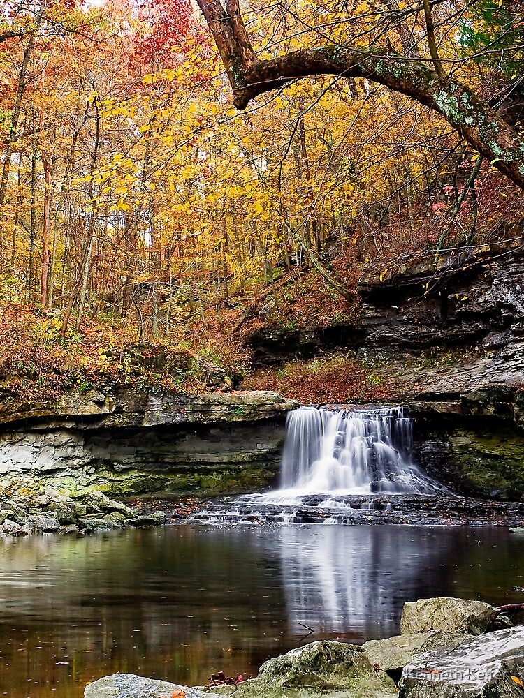 McCormicks Creek Falls, Indiana by Kenneth Keifer