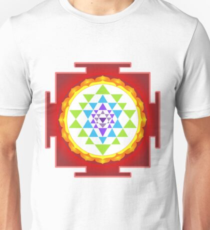 Sri Yantra Mandala for Meditation Unisex T-Shirt