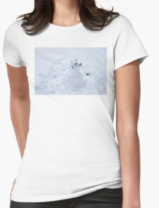 Snow Cat Womens Fitted T-Shirt