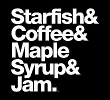 Starfish Coffee Helvetica Ampersand Prince T-Shirts & More by juk8ox