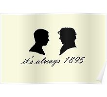 Sherlock and John Silhouettes Poster