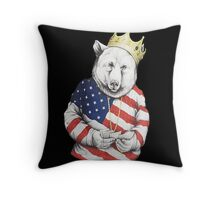 Bigi Bear America Throw Pillow