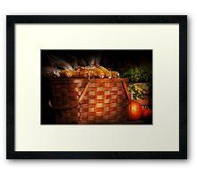 Autumn - Gourd - Fresh corn Framed Print