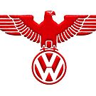 vw flying eagle in RED by Tony  Bazidlo