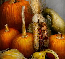 Autumn - Gourd - Pumpkins and Maize  by Mike  Savad