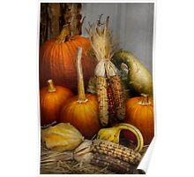 Autumn - Gourd - Pumpkins and Maize  Poster