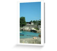 Sea view, Jamaica, Negril Greeting Card