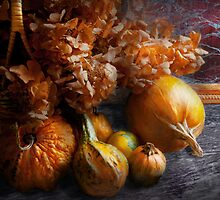 Autumn - Gourd - Still life with Gourds by Mike  Savad