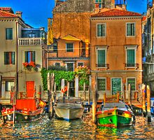 Venice Boats by Alberta Brown Buller