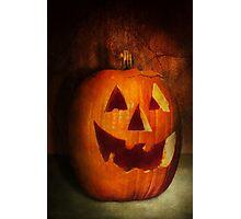 Autumn - Halloween - Jack-o-Lantern  Photographic Print