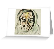 An Old and Lovely face Greeting Card
