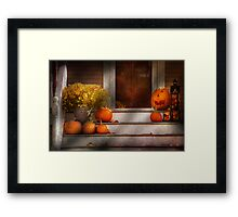 Autumn - Halloween - We're all happy to see you Framed Print