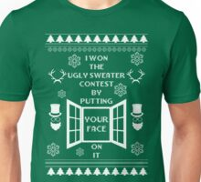 Unique ugly christmas sweater design. Unisex T-Shirt