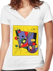 Abstract #38 Women's Fitted V-Neck T-Shirt