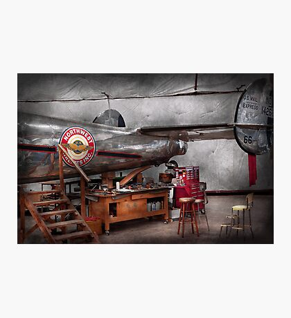 Airplane - The repair hanger  Photographic Print