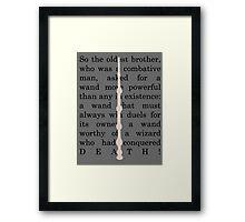 The Elder wand Framed Print