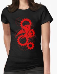 Plague Doctor Gears- Red Variant Womens Fitted T-Shirt