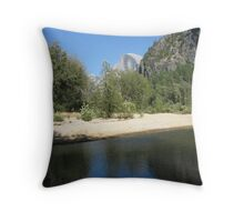 Half Dome Peeks Out Throw Pillow