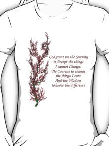 Serenity Prayer Flowering Tree T-Shirt