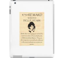 Bell Starr Wanted iPad Case/Skin