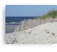 Beach beyond the sand dunes Canvas Print