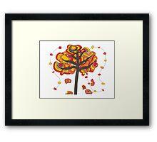 Whimsical Fall Tree Framed Print