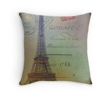 Sweet Eiffel Tower 2 Throw Pillow