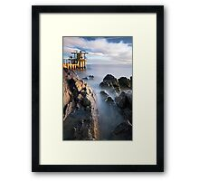 Blackrock diving tower Salthill Galway Ireland. Framed Print