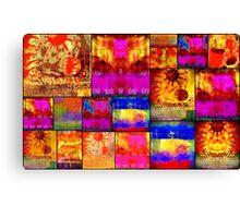 Golden SUN Quilt Canvas Print