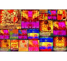 Golden SUN Quilt Photographic Print