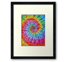 Who's got munchies? [Tie Dye] Framed Print