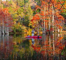 Fishing At Beavers Bend by Carolyn  Fletcher