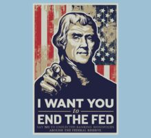 Thomas Jefferson End the Fed Kids Clothes