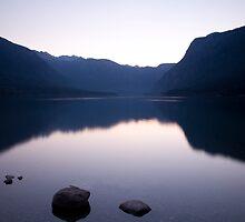 Lake Bohinj sunset by Ian Middleton