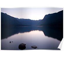 Lake Bohinj sunset Poster