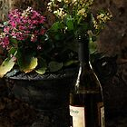 Wine and Flowers by Larry3