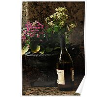 Wine and Flowers Poster