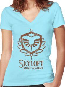 Skyloft Knight Academy Women's Fitted V-Neck T-Shirt