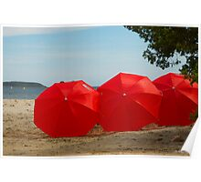 """""""Red"""" on the beach Poster"""