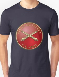 Field Artillery - FA Branch Insignia over Blue Velvet T-Shirt