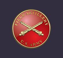 Field Artillery - FA Branch Insignia over Blue Velvet Unisex T-Shirt