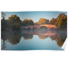 Sunrise over Sonning Bridge Poster