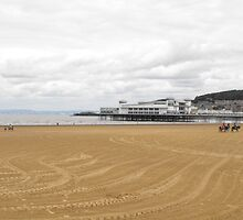 Beach scene Weston Super Mare August 2011 by zarquon