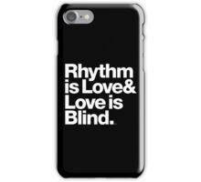 André Cymone Love to Dance Electric Helvetica Threads iPhone Case/Skin