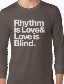 André Cymone Love to Dance Electric Helvetica Threads Long Sleeve T-Shirt