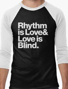 André Cymone Love to Dance Electric Helvetica Threads Men's Baseball ¾ T-Shirt